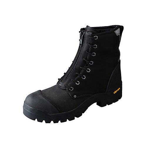 Twisted X Men's Fire-Resistant Waterproof Lace-Up Work Boot Steel Toe Black 8.5 EE US by Twisted X