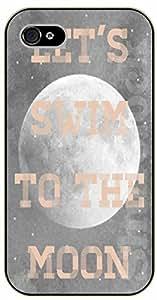 "LJF phone case iPhone 6 (4.7"") Let's swim to the moon - black plastic case / Music lyrics, songs, love"