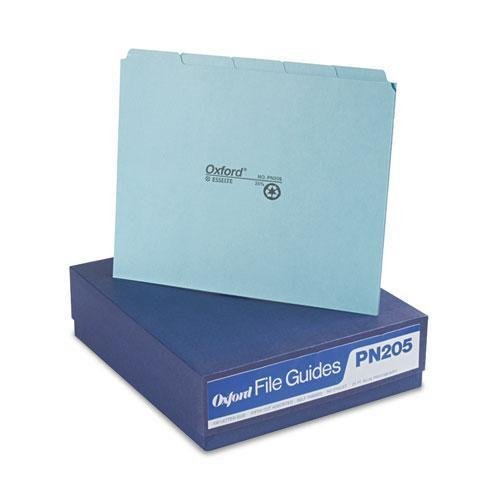 PFXPN205 - Pendaflex Blank Self Tab Pressboard File Guides by Pendaflex Pressboard Self Tab File Guides