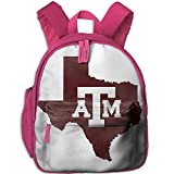 State Texas Map Double Zipper Waterproof Children Schoolbag With Front Pockets For Teens Boy Girl