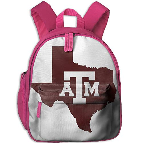 State Texas Map Double Zipper Waterproof Children Schoolbag With Front Pockets For Teens Boy Girl by TPXYJOF