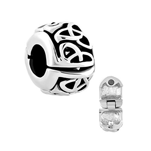 Charmed Craft Vintage Irish Celtic Knot Clip Lock Stopper Charms Bead for Bracelet (Womens Celtic Charm)