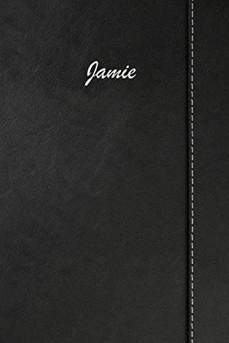 Jamie: Weekly Meal Planner Simulated Black Leather Track And Plan Your Meals 52 Week Food Planner / Diary / Log / Journal / Calendar Meal Prep And Planning Grocery List