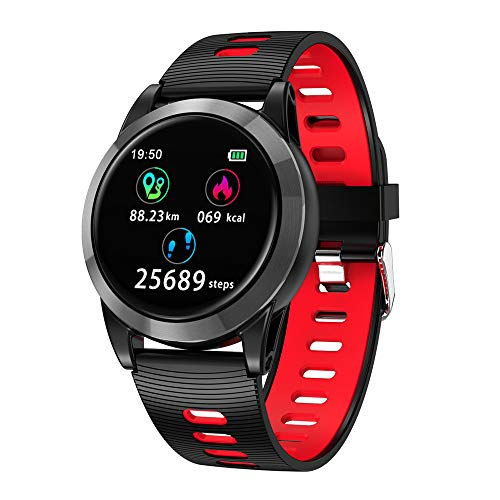 1.3'' Large OLED Screen Smart Watch Health Fitness Tracker Heart Rate Monitor Sports Smart Wristband Pedometer Smart Bracelet Bluetooth Watchband iOS Android Phone