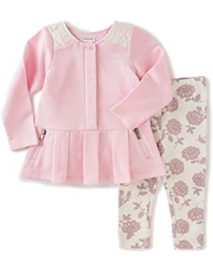 Baby Girls' Tunic with Printed Leggings Set