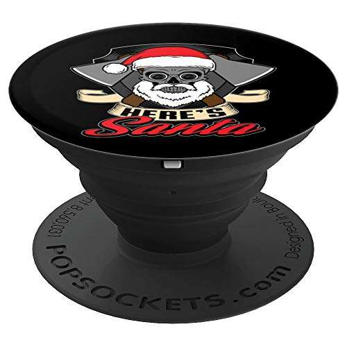 (Santa Hat Fireman Axe Skull Christmas Stocking Stuffers Gift - PopSockets Grip and Stand for Phones and Tablets)
