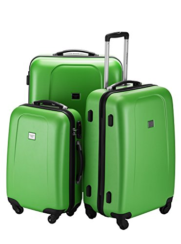 HAUPTSTADTKOFFER Wedding Hard-side Luggage set Glossy Suitcase Hardside Spinner Trolley Expandable (20¡°, 24¡° & 28¡°) TSA Applegreen by Hauptstadtkoffer