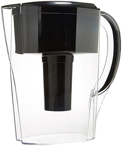 Brita Space Saver Water Filter Pitcher-Black-6 Cup (Brita Space Saver 6 Cup Pitcher)
