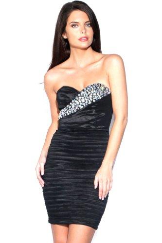 embellished bandeau dress - 1