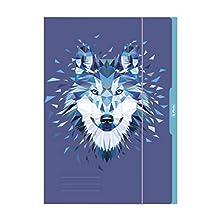 Herlitz my.pen 50027187 - Tijeras para diestros, varios colores, color A3. Wolf