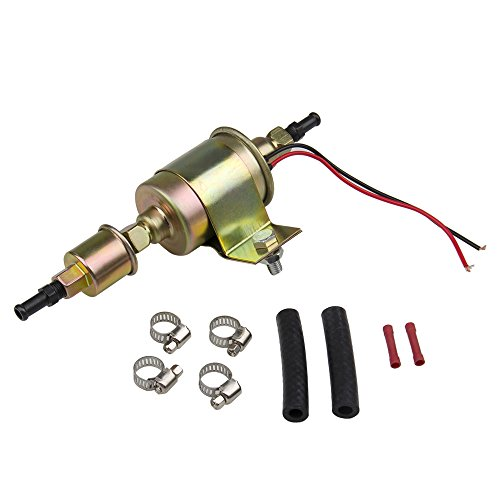 (Universal Electric Fuel Pump 30Gph 12V E8012S for Carburetor Petrol & Diesel Vehicles with Installation Kits (5-9 Psi Round))