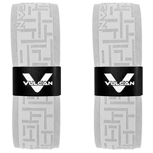 Vulcan Baseball Softball Bat Grip Tape - (2-Pack, White 0.5 MM) - Bat Handle Wrap for Batting