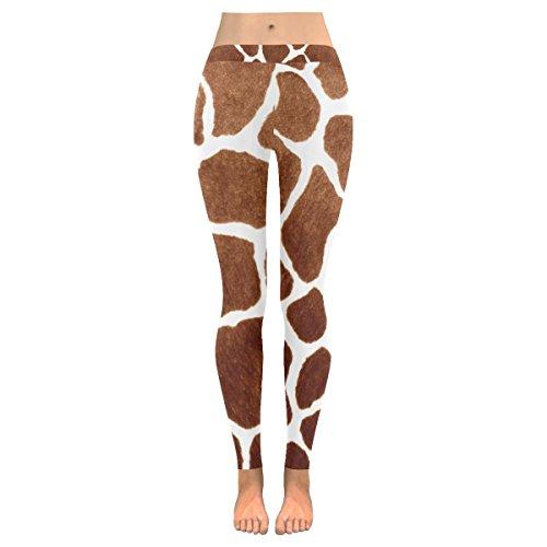 INTERESTPRINT Giraffe Skin Print Custom Stretchy Capri Leggings Skinny Pants for Yoga Running Pilates Gym XL ()