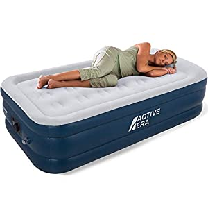 Active Era Air Bed – Premium Single Size AirBed with a Built-in Electric Pump and Pillow