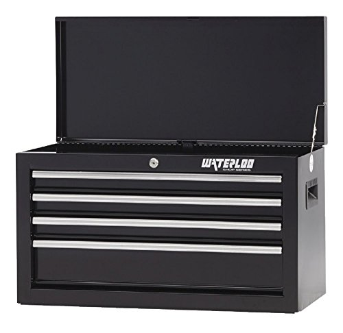 "Waterloo Shop Series 4-Drawer Tool Chest with Reinforced Sidewall Construction, Black Finish, 26"" W"