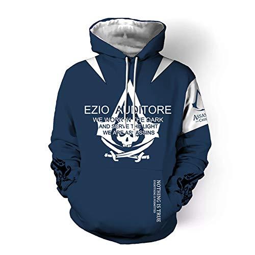 3d Creed Costume Classic Casual Jacket Cosplay Cappuccio Art Con Sponsokt Assassin's Sword Pullover Felpa Game Online Kj2 AFzzPx8qw