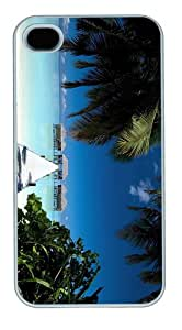 Cheap price case rangali island maldives PC White Case for iphone 4/4S