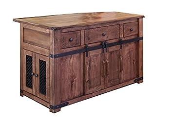 Jacob Solid Wood Kitchen Island