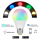 Smart Bulb,Nexlux Sunrise Wake-Up Wifi Lights,Cellphone Control Color Tunable Soft,Cool White,RGB Led Light Bulb 4.5W(40W Equivalent),Compatible With Alexa and Google Assistant