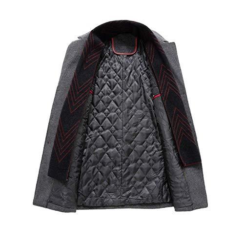 Rlrl Épaississement Pour Homme Automne Et En Hommes Coton Manteau Laine De Gray Hiver rwqrgx