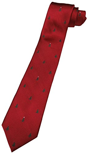 - Tommy Hilfiger Neck Tie Christmas Red w/ Trees