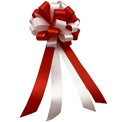 Red and White Pull Bows - 8