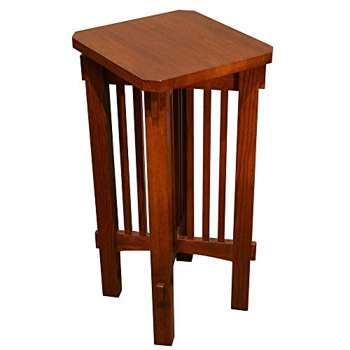Mission Spindle Side Table Plant Stand ()