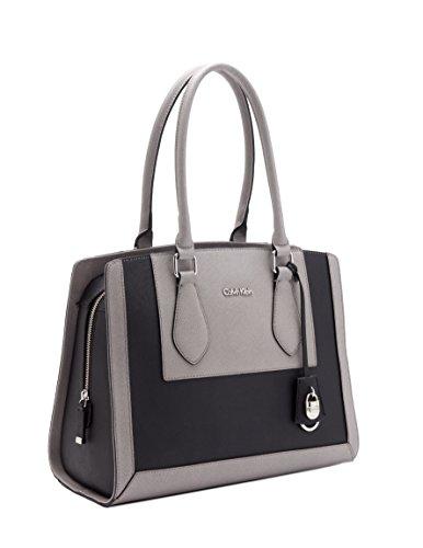 Calvin Klein Modena Saffiano Travel ToteBlackSmokeOne Size