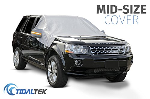 Tidaltek Car Windshield Snow And Ice Cover   New 2018 Arrival  Ultra Durable  Premium Weatherproof Design That Protects Windshield  Wipers  And Mirrors   Mid Size
