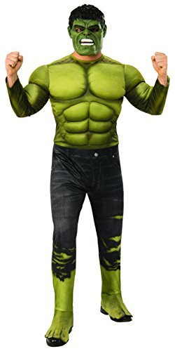 Marvel - Disfraz de Hulk para hombre (Infinity Wars), Talla XL adulto (Rubies 821000-XL)
