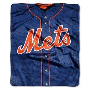 MLB New York Mets Jersey Plush Raschel Throw, 50
