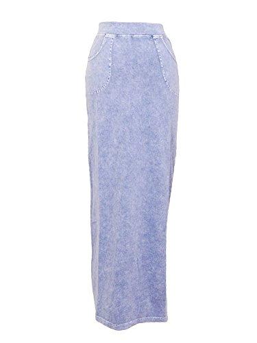 (Hard Tail Skinny Maxi Skirt Light Denim S)