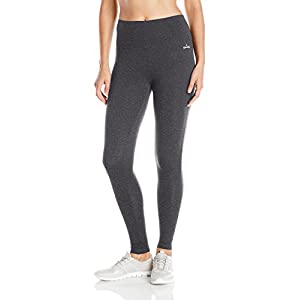 Spalding Women's High-Waisted Legging, Charcoal Heather, Large