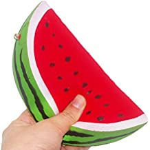 """Eworld - Squeezed Watermelon Toy - 5.5"""" Jumbo Slow Rising Kawaii Lifelike Colossal Soft Cute Hand Pillow Sweet Fruit Scented Hand Wrist Stress Toy"""