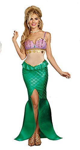 [Dreamgirl Women's Sea Goddess, Multi, XL] (Cute Ariel Costumes)