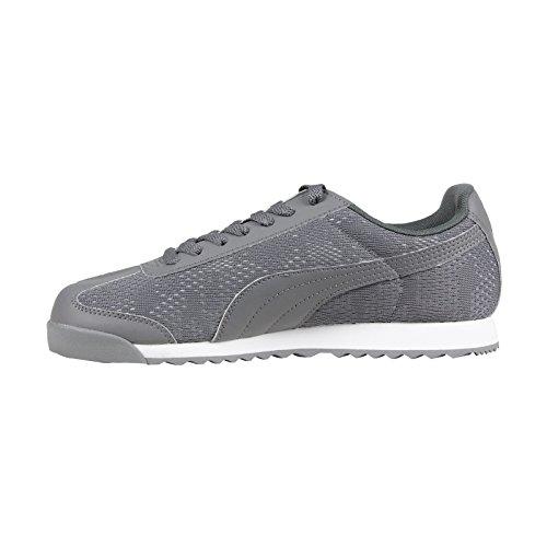Puma Mens Ingénieur Roma Camou Acier Gris / Blanc Sneaker 8 D (m)