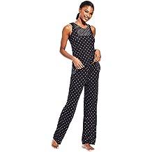 Kathy Ireland Women's 2 Piece Lightweight Sleep Shirt Long Pants Pajama Set