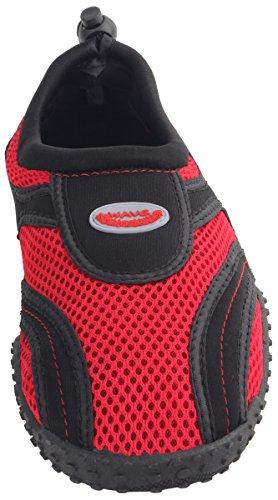 Drawstring Shoe Aqua Grip Red Summer Sport Black Vacation Beach Slip Women's Water On Enimay tqvw6Av