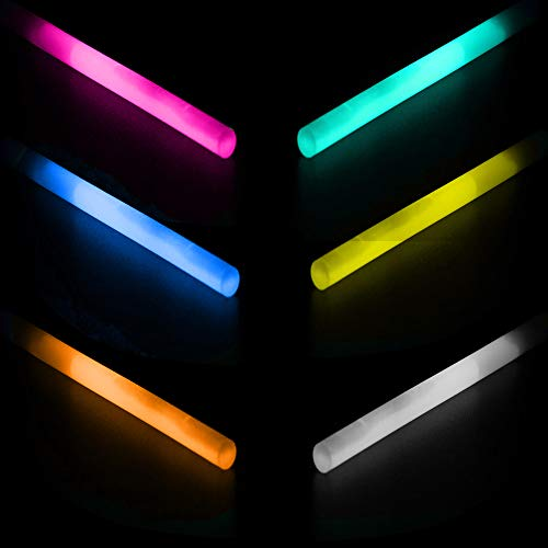 Lumistick 80 Count Jumbo Glowsticks - Ultra Bright 12 inch Long Giant 15mm Thick Flat Bottom Long Lasting Up to 12 Hours Party Light Sticks for Events, Camping, Emergency (Assorted, 80) by Lumistick (Image #7)