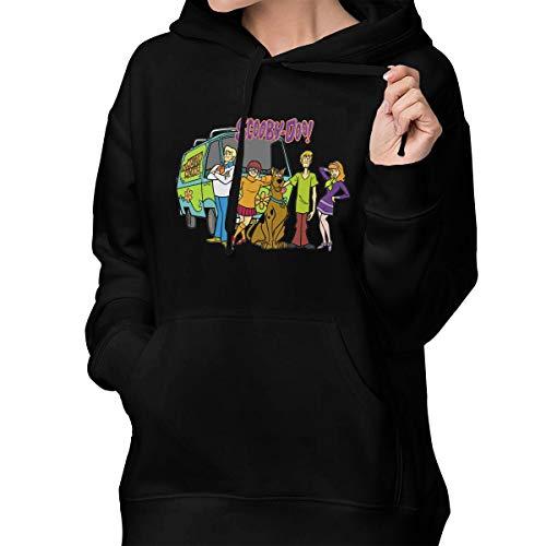 Womens Winter Hoodies Scooby-Doo Cotton Hooded Coat Jacket Pullover Sweatshirt Outwear Long Sleeve
