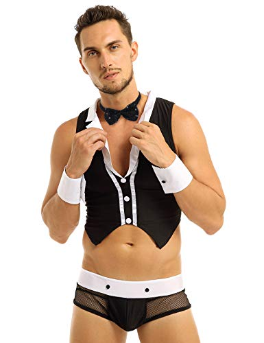 Male Maid Costumes - CHICTRY Mens Sexy Maid Role Play