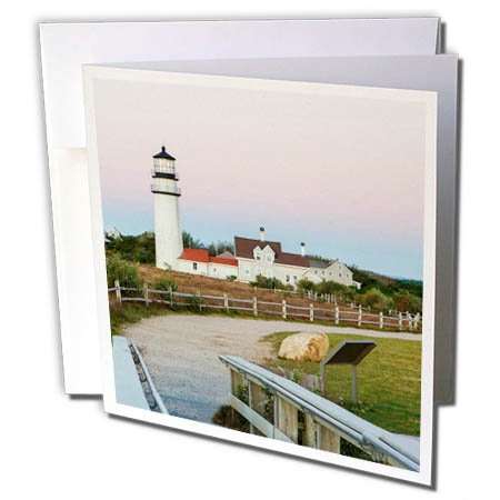 - 3dRose Danita Delimont - Lighthouses - Highland Light in The Cape Cod National Seashore. Truro, Massachusetts - 6 Greeting Cards with envelopes (gc_259431_1)