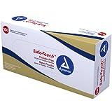 Dynarex Safe-Touch Vinyl Exam Glove Powder Free, Medium, 100 Count (Pack of 10)