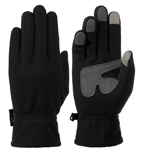 Knolee Men&Women Winter Glove Outdoor Warm Fleece Gloves With TouchScreen,Black L