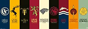 Game of Thrones House Sigils Slim Poster