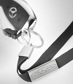 Mercedes-Benz SLR correa de cuello llavero 100% Poliéster Negro