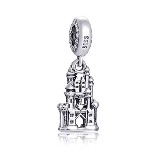 Choruslove Regal Castle Charm 925 Sterling Silver Travel Charm for Bracelet Jewelry Making