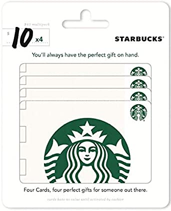 graphic regarding Starbucks Printable Gift Card identified as Starbucks Present Playing cards, Multipack of 4