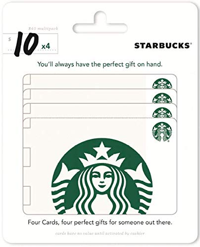 (Starbucks Gift Cards, Multipack of 4 - $10)