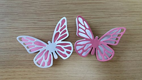 10 PINK AND WHITE BUTTERFLIES FOR CRAFTING/CARD MAKING